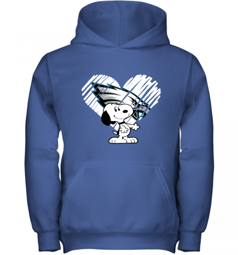 hdtu i love philadelphia eagles snoopy in my heart nfl youth hoodie 43 front royal