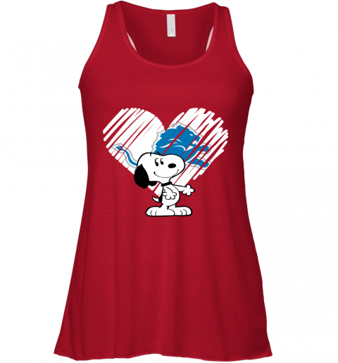nznt i love snoopy detroit lions in my heart nfl flowy tank 32 front red