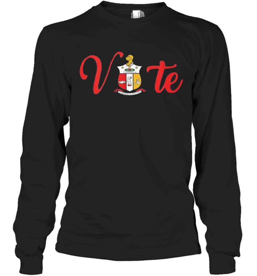 Vote Kappa Alpha Psi Shield Long Sleeve T-Shirt
