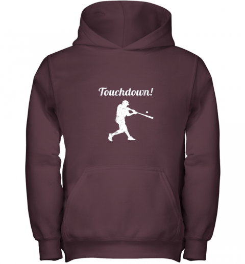 htlv touchdown funny baseball youth hoodie 43 front maroon