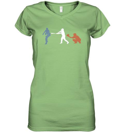 ruhf baseball usa flag american tradition spirit women v neck t shirt 39 front lime