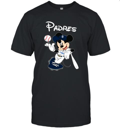 Baseball Mickey Team San Diego Padres Unisex Jersey Tee