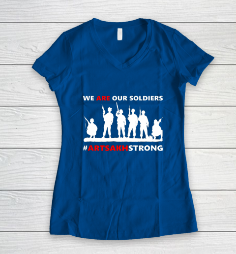 We Are Our Soldiers Women's V-Neck T-Shirt 7