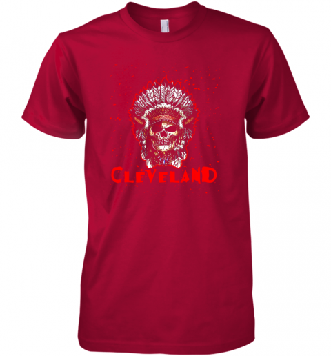 14oe cleveland hometown indian tribe vintage baseball fan awesome premium guys tee 5 front red