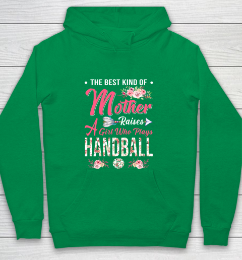 Handball the best kind of mother raises a girl Youth Hoodie 4