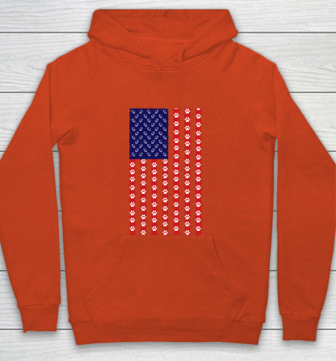 Rugby Dog Lover American Flag Youth Hoodie 3