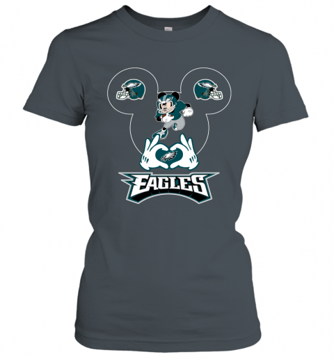 jhmm i love the eagles mickey mouse philadelphia eagles ladies t shirt 20 front dark heather