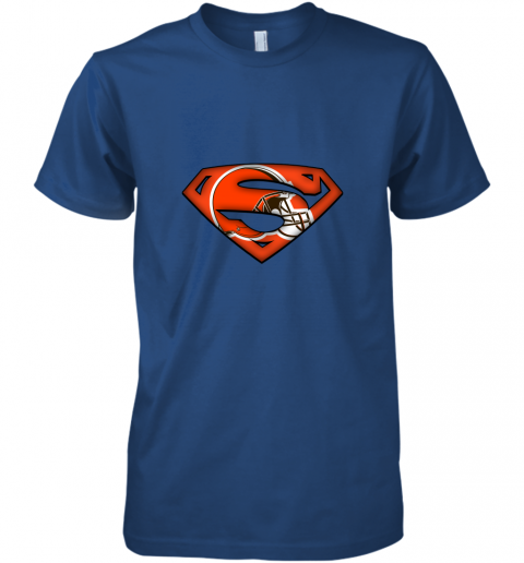 pjsl we are undefeatable the cleveland browns x superman nfl premium guys tee 5 front royal