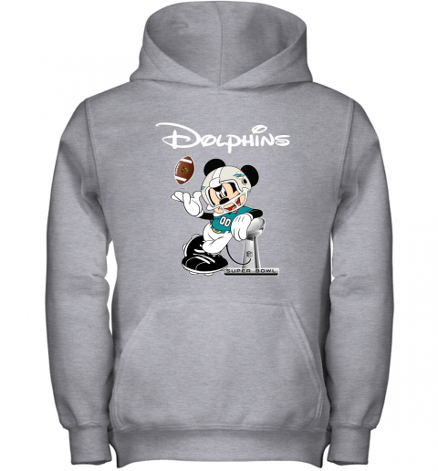 o01z mickey dolphins taking the super bowl trophy football youth hoodie 43 front sport grey
