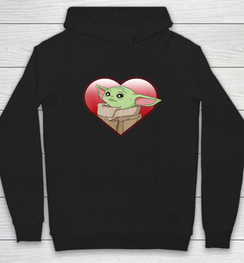 Star Wars The Mandalorian The Child Valentine Heart Portrait Hoodie