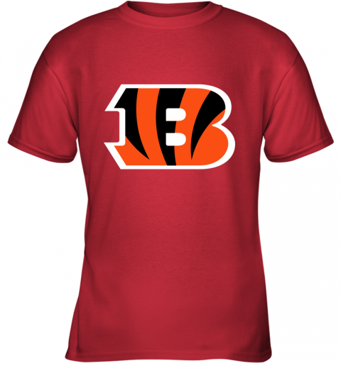 fkj5 cincinnati bengals nfl line gray victory youth t shirt 26 front red