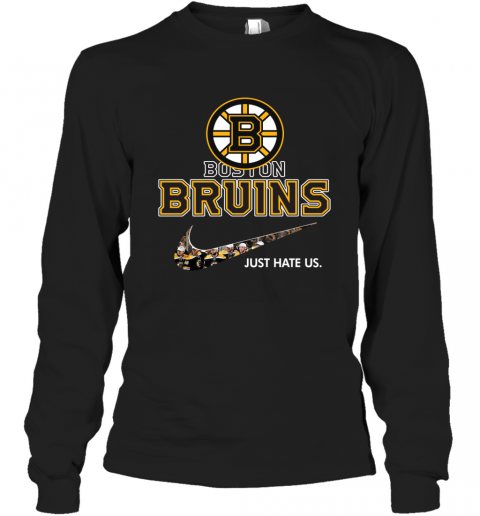 NHL   Boston Bruins x Nike Just Hate Us Long Sleeve T-Shirt
