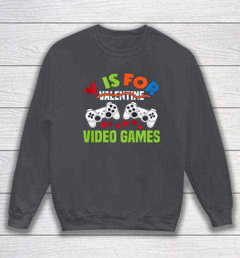 Funny Video Games Lover Valentine Day Sweatshirt 4