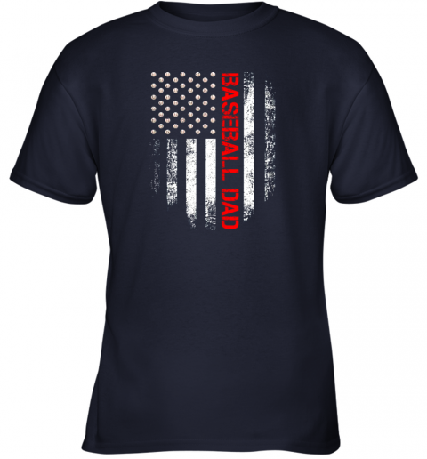 geol vintage usa american flag proud baseball dad player youth t shirt 26 front navy