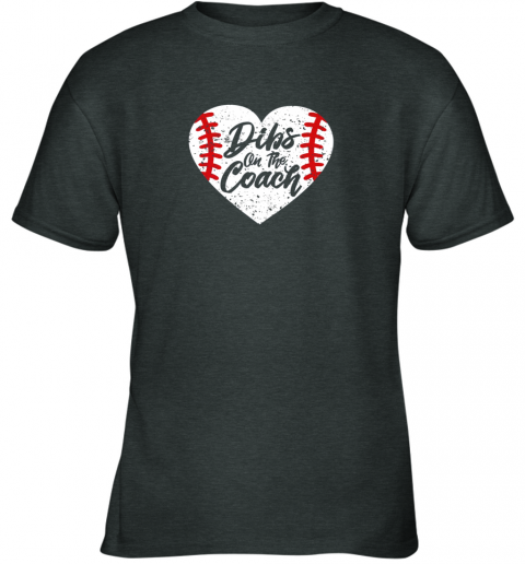 hwzx dibs on the coach funny baseball youth t shirt 26 front dark heather