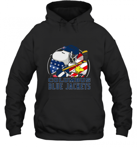 Columbus Blue Jackets  Snoopy And Woodstock NHL Hoodie