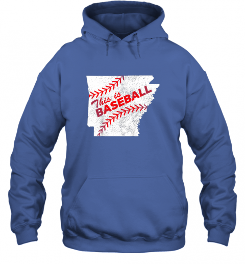 axqo this is baseball arkansas with red laces hoodie 23 front royal