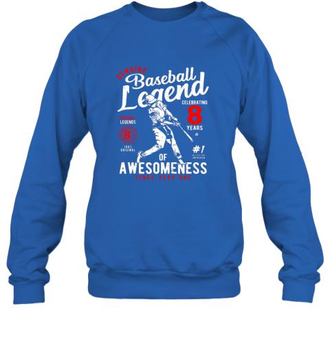 zuqj kids 8th birthday gift baseball legend 8 years sweatshirt 35 front royal