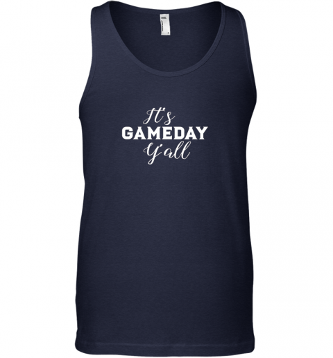 c5ut it39 s game day y39 all football baseball basketball unisex tank 17 front navy