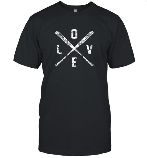 Love Baseball Bats Shirt, Baseball Mom Softball Dad Gift Unisex Jersey Tee