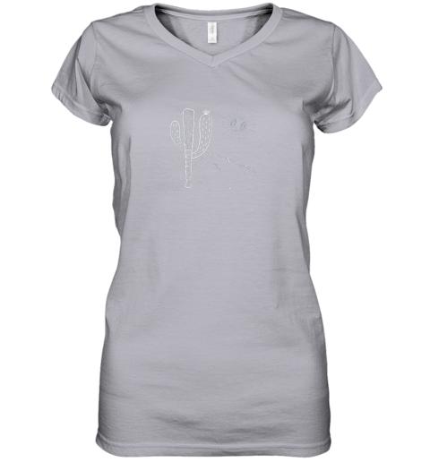 q2jt cactus baseball bat image shirt for america39 s pastime fan women v neck t shirt 39 front sport grey