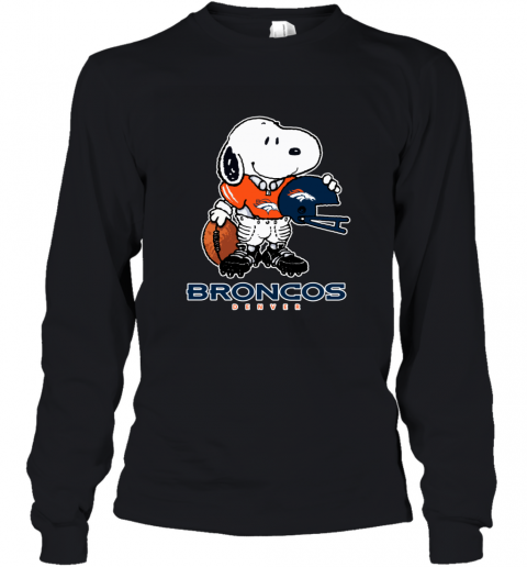 Snoopy Strong And Proud Denver Broncos Player NFL Youth Long Sleeve