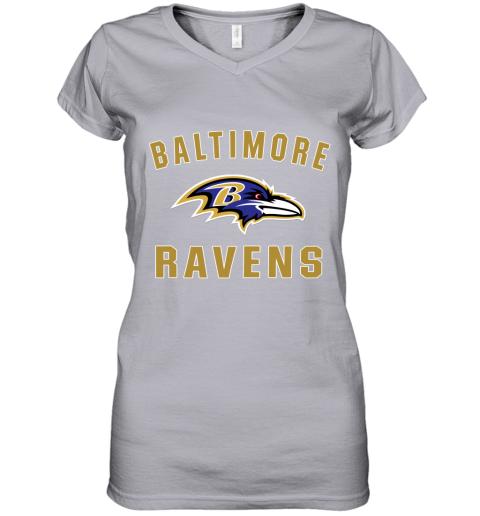 4thx mens baltimore ravens nfl pro line by fanatics branded gray victory arch t shirt women v neck t shirt 39 front sport grey