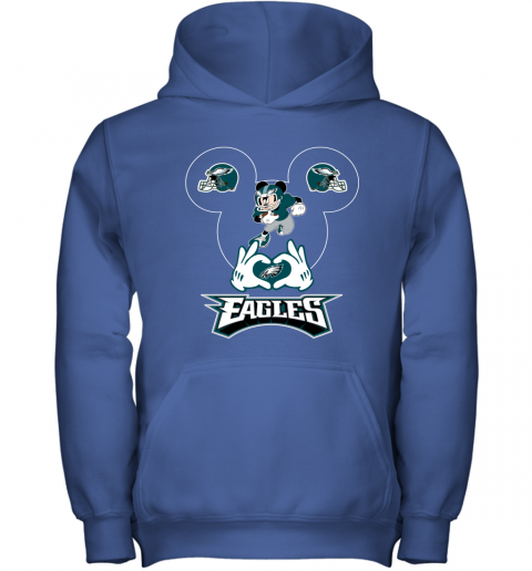 wom3 i love the eagles mickey mouse philadelphia eagles youth hoodie 43 front royal