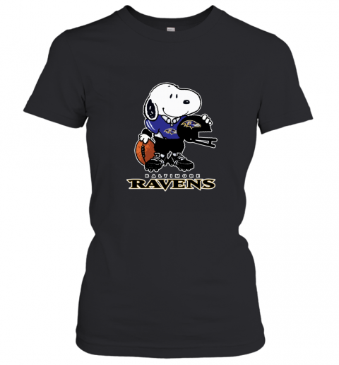 Snoopy A Strong And Proud Baltimore Ravens NFL Women's T-Shirt
