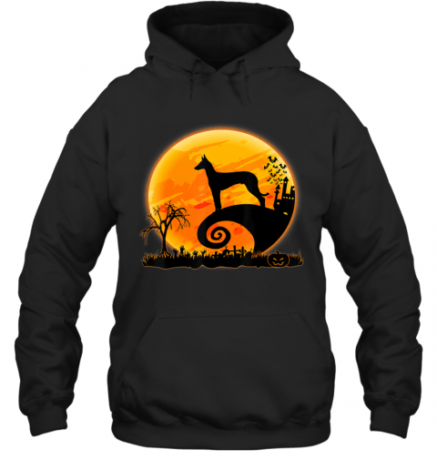 Ibizan Hound Dog Shirt And Moon Funny Halloween Costume Gift Hoodie