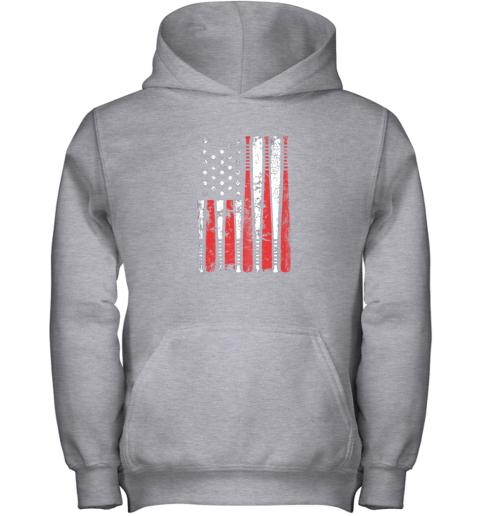 ykpl vintage baseball bat american usa flag gift youth hoodie 43 front sport grey