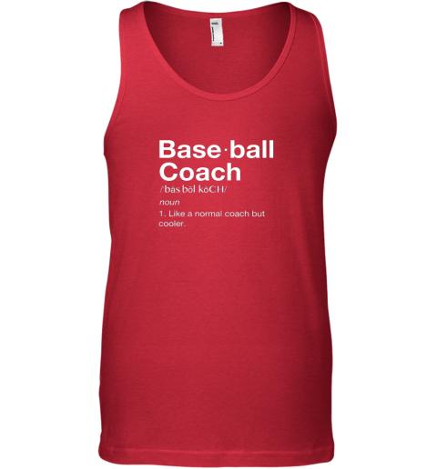 9jjo coach baseball shirt team coaching unisex tank 17 front red