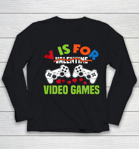 Funny Video Games Lover Valentine Day Youth Long Sleeve