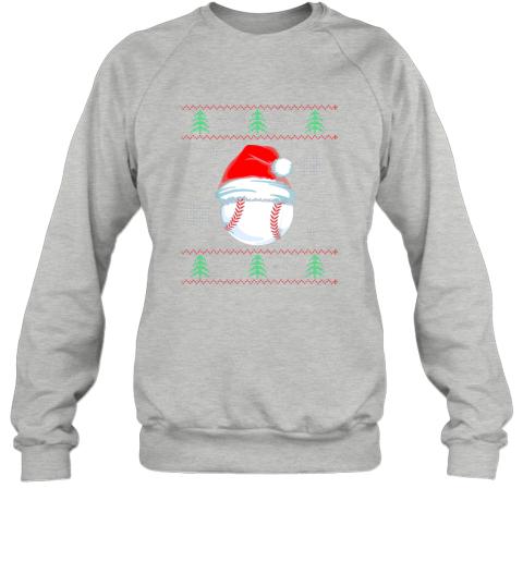 wxru ugly christmas baseball shirt boys kids ball santa pajama sweatshirt 35 front sport grey