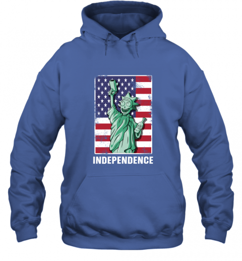 nmun rick and morty statue of liberty independence day 4th of july shirts hoodie 23 front royal