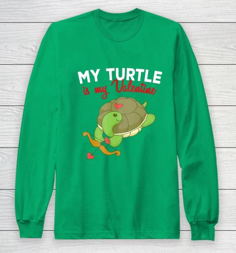 Turtle Valentine T Shirt Sea Turtle Cupid Valentines Day Long Sleeve T-Shirt 4