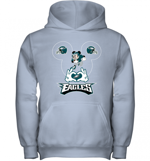 wom3 i love the eagles mickey mouse philadelphia eagles youth hoodie 43 front light pink