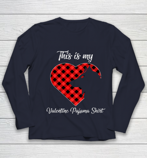 This Is My Valentine Pajama Shirt Wolf Valentines Day Youth Long Sleeve 2