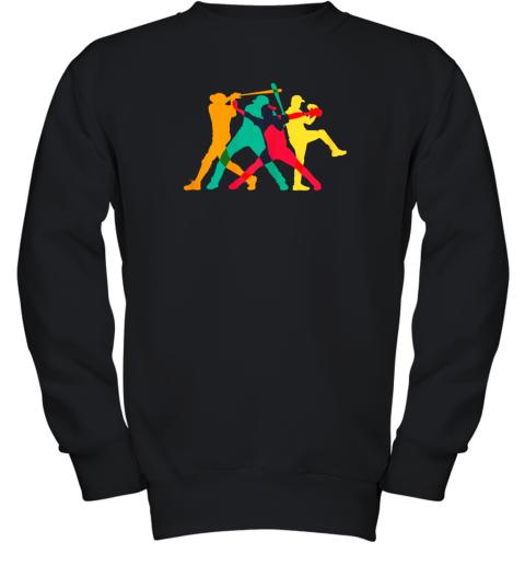Vintage Baseball Shirt Gifts Youth Sweatshirt