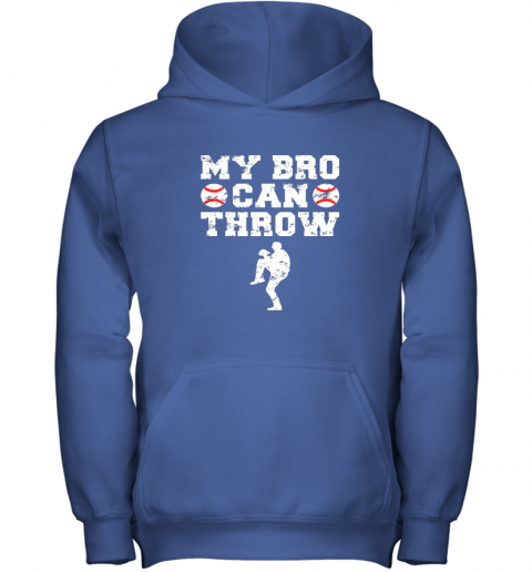 neqo kids cute baseball brother sister funny shirt cool gift pitcher youth hoodie 43 front royal