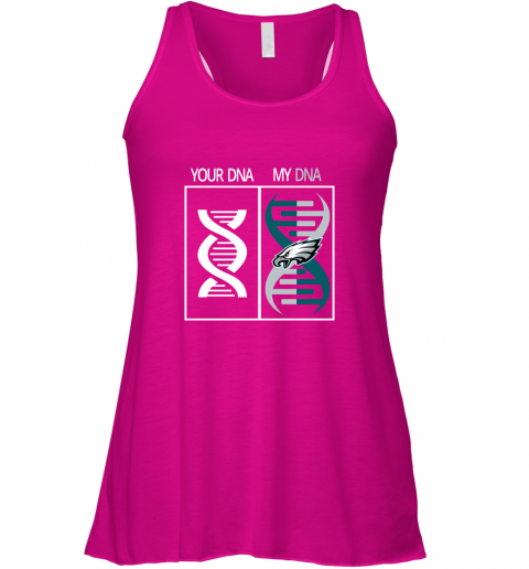 0rwm my dna is the philadelphia eagles football nfl flowy tank 32 front neon pink