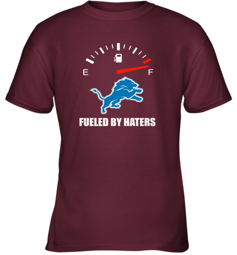 mrit fueled by haters maximum fuel detroit lions youth t shirt 26 front maroon