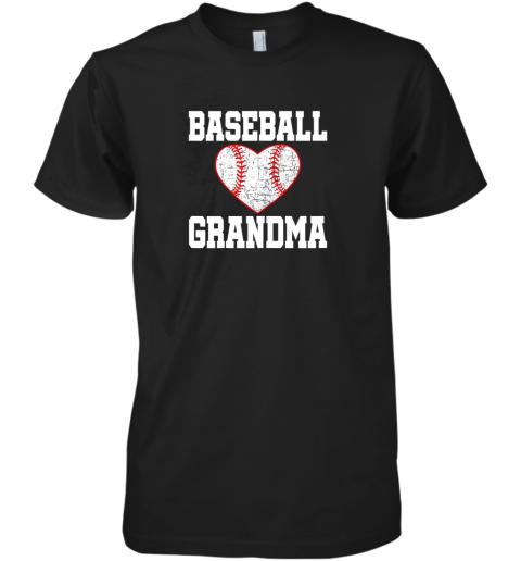 Vintage Baseball Grandma Funny Gift Premium Men's T-Shirt