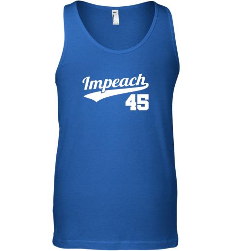 96qy impeach donald trump 45 baseball logo unisex tank 17 front royal