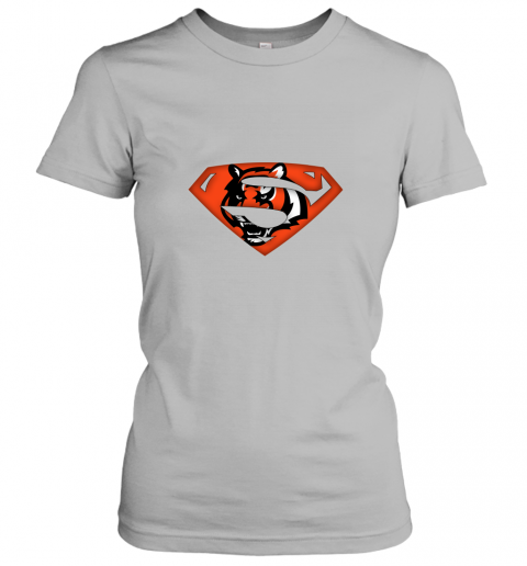 7mnr we are undefeatable the cincinnati bengals x superman nfl ladies t shirt 20 front sport grey