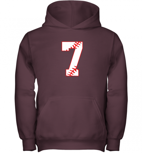 uehl cute seventh birthday party 7th baseball shirt born 2012 youth hoodie 43 front maroon