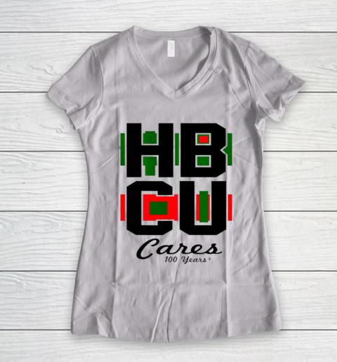 HBCU Cares College University Graduation Gift Black School Women's V-Neck T-Shirt