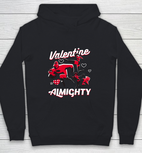 Disney Pixar Incredibles Family Valentine Almighty Youth Hoodie