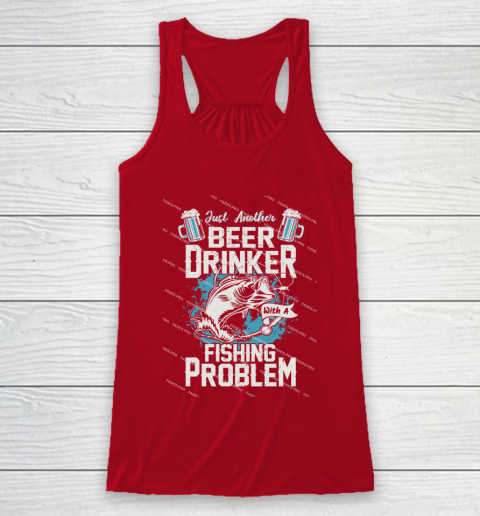 Beer Lover Funny Shirt Fishing ANd Beer Racerback Tank 4