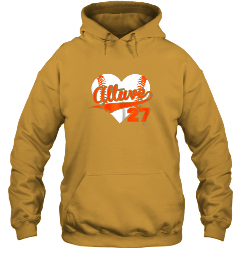 ndnz jose altuve baseball heart shirtapparel hoodie 23 front gold